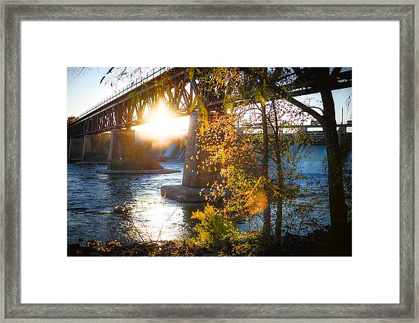 Blanchard Dam - A Favorite Place Framed Print
