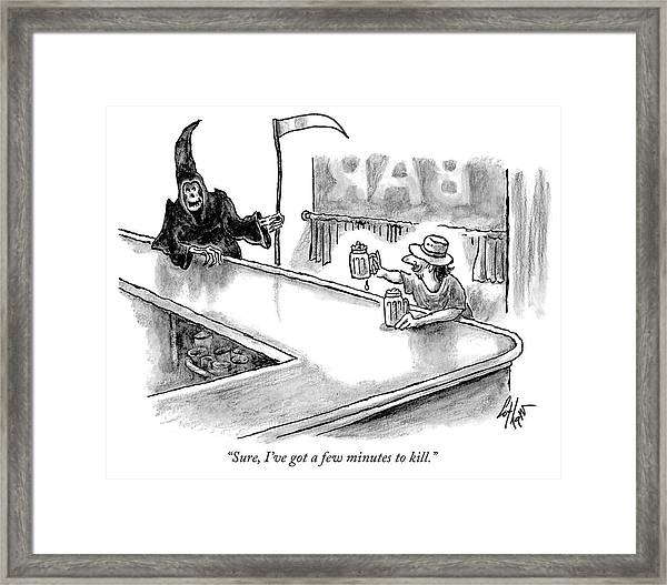 A Few Minutes To Kill Framed Print