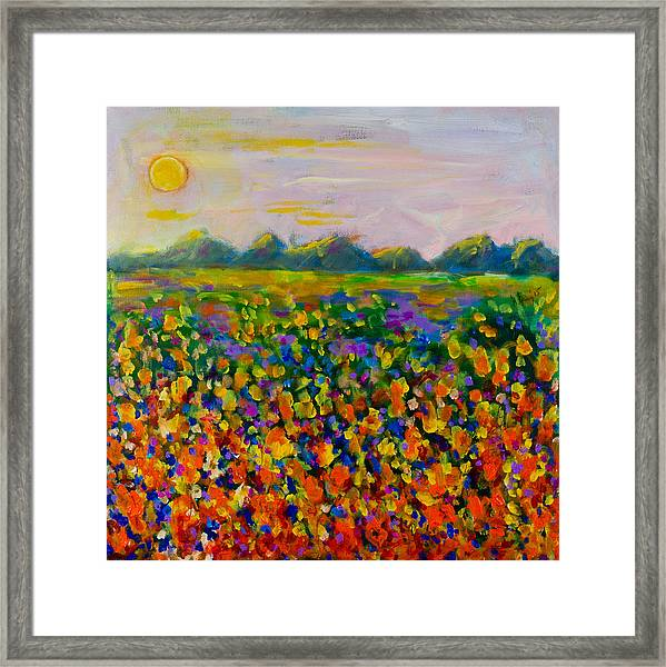 A Field Of Flowers #1 Framed Print