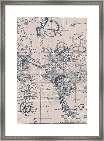 A Fishermans Map Framed Print