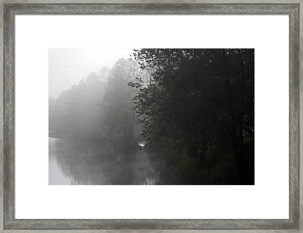 A Foggy Morning In Pennsylvania Framed Print