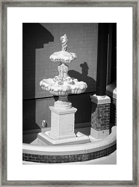 A Fountain Of Snow Framed Print