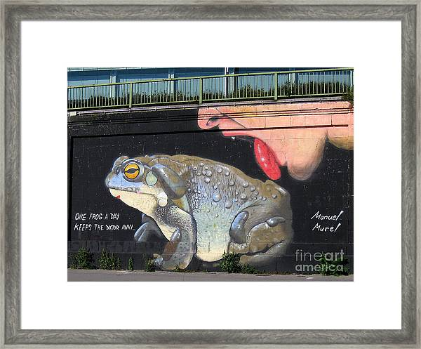 A Frog A Day Keeps The Doctor Away Framed Print
