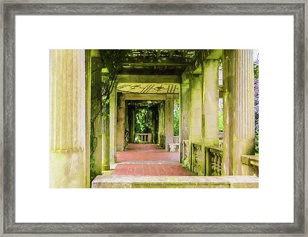 A Garden House Entryway. Framed Print
