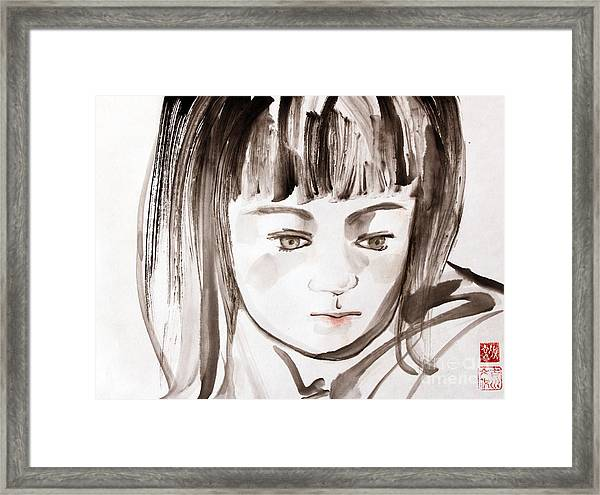 A Girl Framed Print