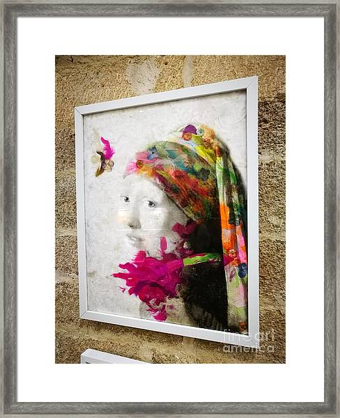 A Girl With A Pearl Framed Print