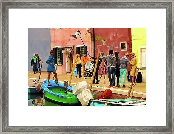 A Glamour Shoot In Burano Framed Print