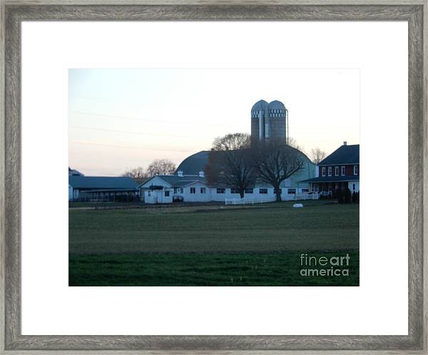 A Glorious Amish Evening Framed Print