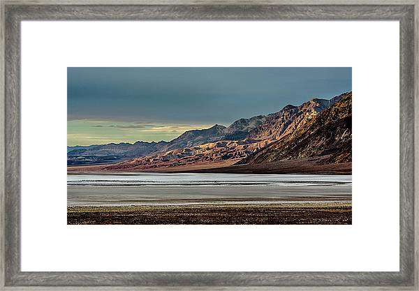 A Glow On The Amargosa Range Framed Print