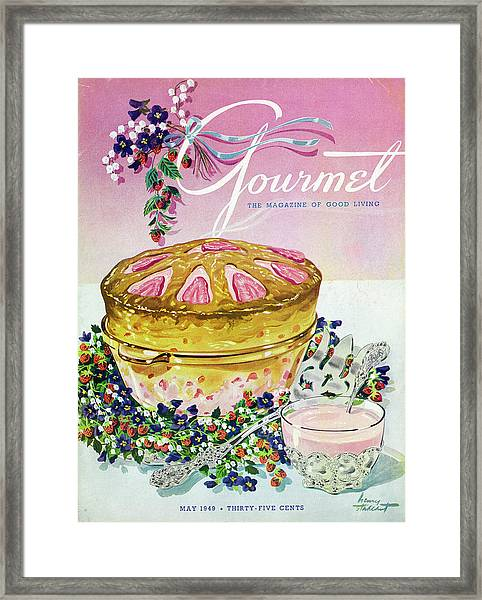 A Gourmet Cover Of A Souffle Framed Print