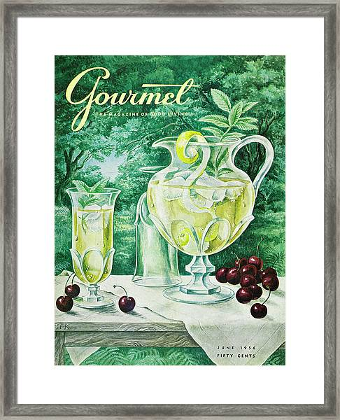 A Gourmet Cover Of Glassware Framed Print