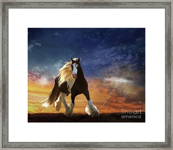 Framed Print featuring the digital art A Gypsy Storm by Melinda Hughes-Berland