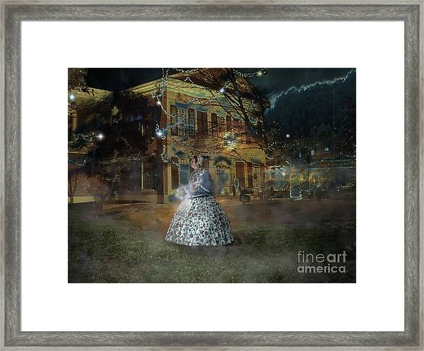 A Haunted Story In Dahlonega Framed Print