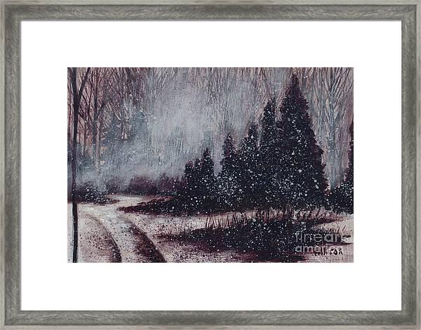 A Hazy Shade Of Winter  Framed Print