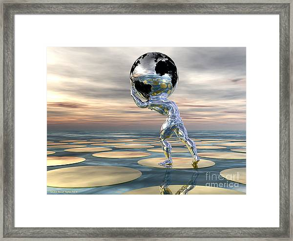 A Heavy Burden Framed Print by Sandra Bauser Digital Art