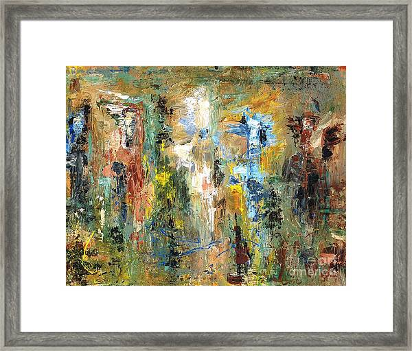A Herd Of Five Framed Print