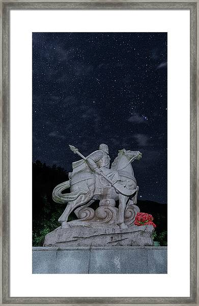 Framed Print featuring the photograph A Hero's Starscape by William Dickman