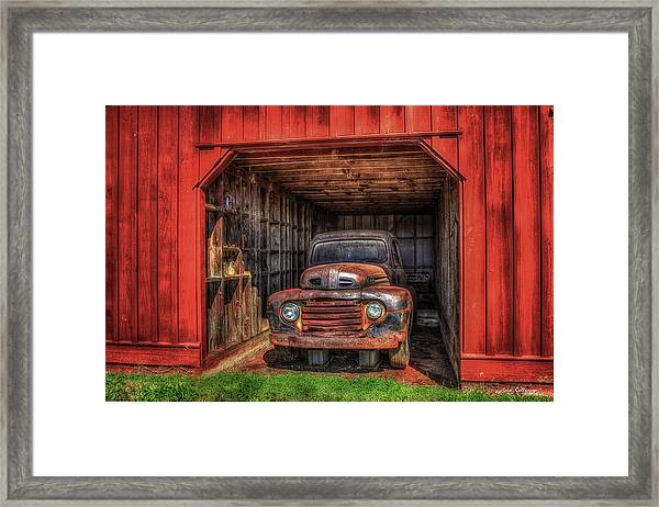 A Hiding Place 1949 Ford Pickup Truck Framed Print