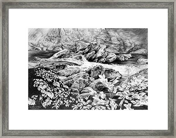 A Hiker's View - Landscape Print Framed Print