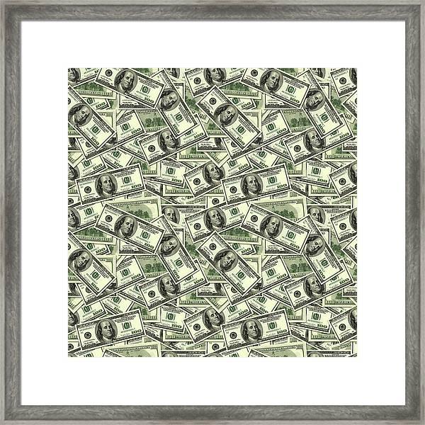 A Hundred Dollar Bill Banknotes Framed Print