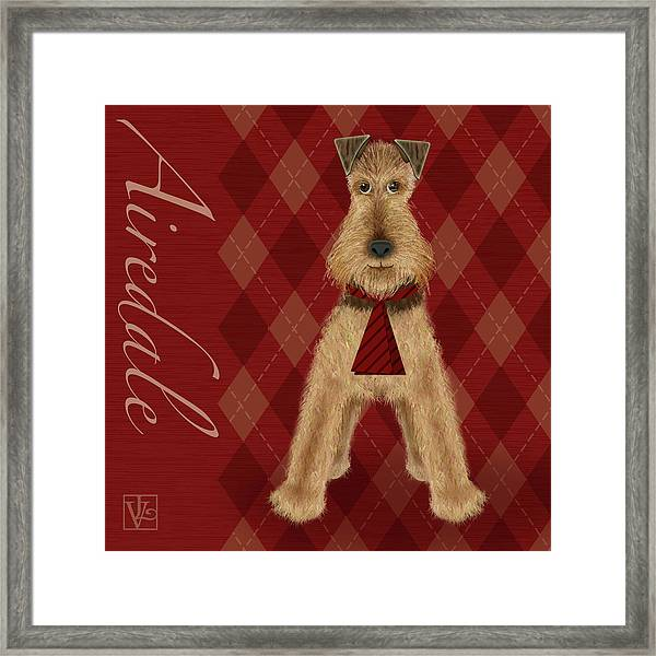 A Is  For Airedale Framed Print