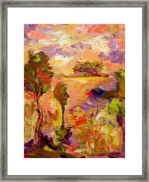 A Joyous Landscape Framed Print