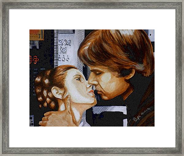 A Kiss From A Scoundrel Framed Print