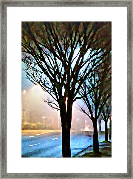 A Light Dusting Of Solitude Framed Print