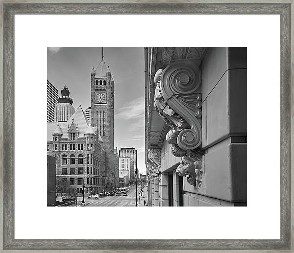 A Lion Guards  Minneapolis City Hall Framed Print