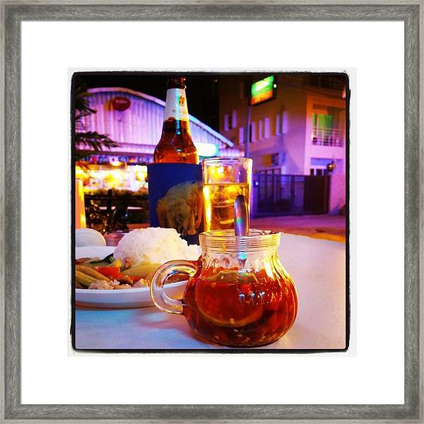 Framed Print featuring the photograph A Little Dab Will Do Yah. It's Sliced by Mr Photojimsf