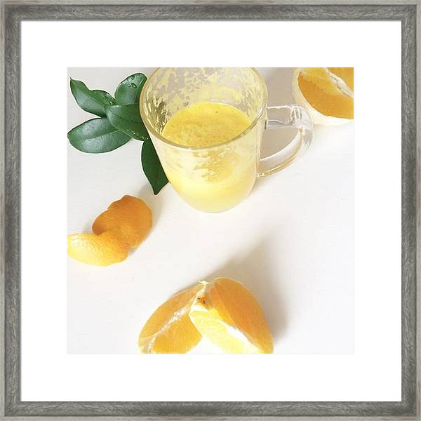 A Little Fresh Oj, Because Oranges Are Framed Print