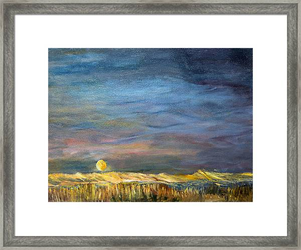 A Little Moon Magic Framed Print