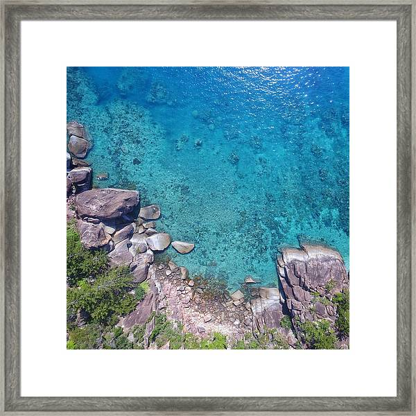 A Little Square Of Paradise  Framed Print