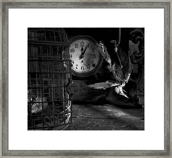 A Little Too Late Framed Print