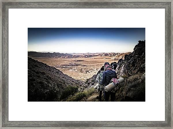 A Long Walk Through Joshua Tree Framed Print