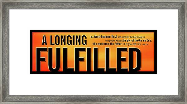 Framed Print featuring the digital art A Longing Fulfilled by Shevon Johnson