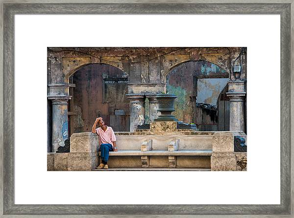A Lot On My Mind Framed Print