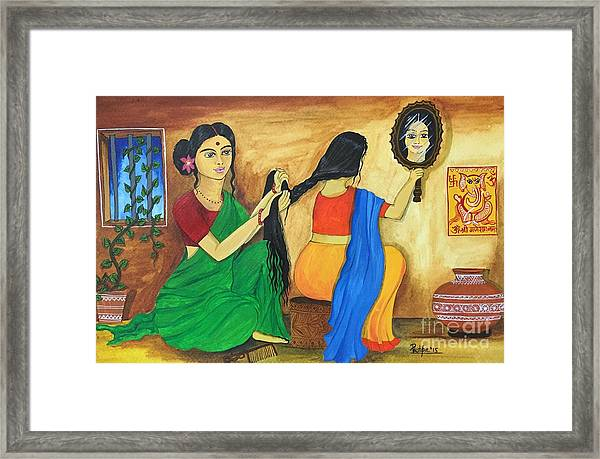 A Loving Moment  Framed Print by Pushpa Sharma