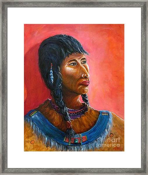 A Maiden Waits Framed Print