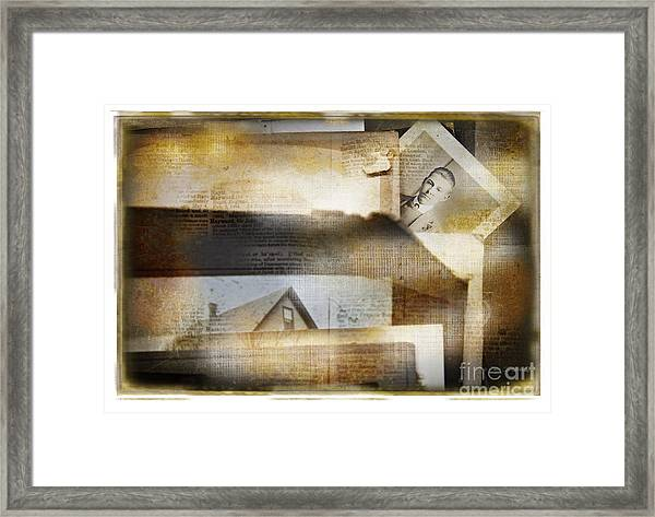 A Man's Story Framed Print