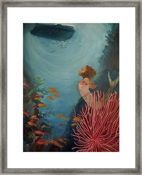 A Mermaid's Journey Framed Print