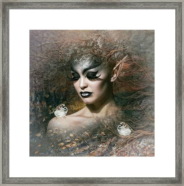 A Moment Chirps Framed Print