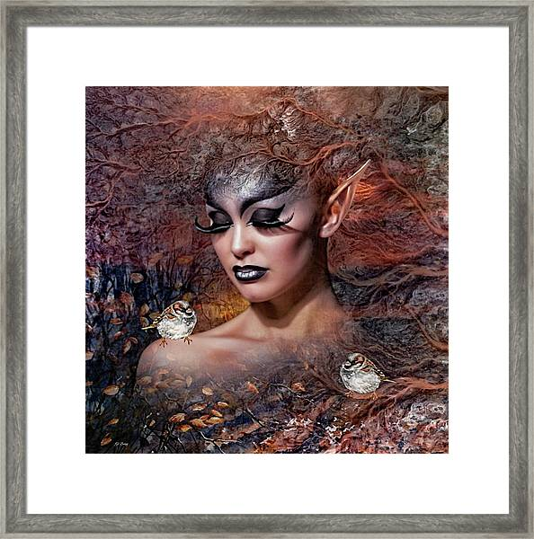 A Moment Chirps 02 Framed Print