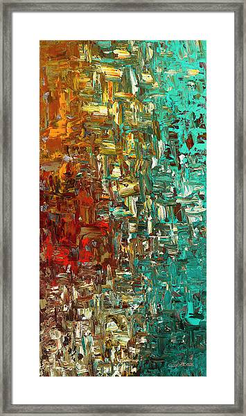 A Moment In Time - Abstract Art Framed Print