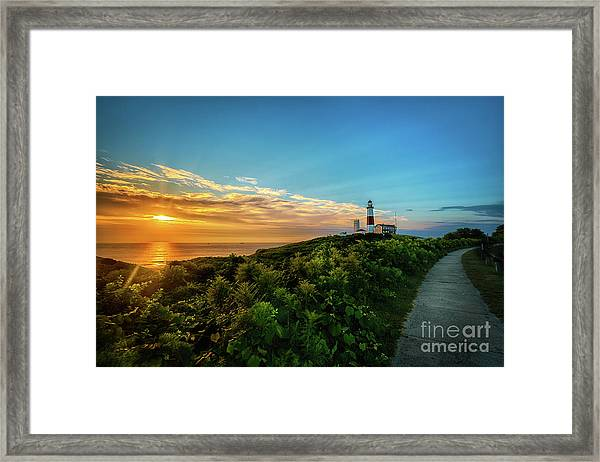 A Montauk Lighthouse Sunrise Framed Print