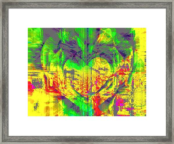 A Moody Heart Framed Print by Fania Simon