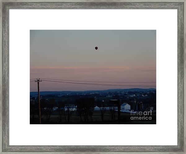 A Morning Hot Air Balloon Ride Framed Print
