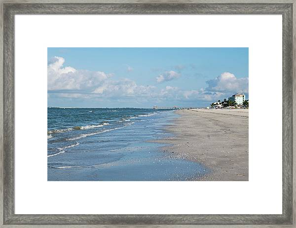 A Morning Walk On Fort Myers Beach Fort Myers Florida Framed Print