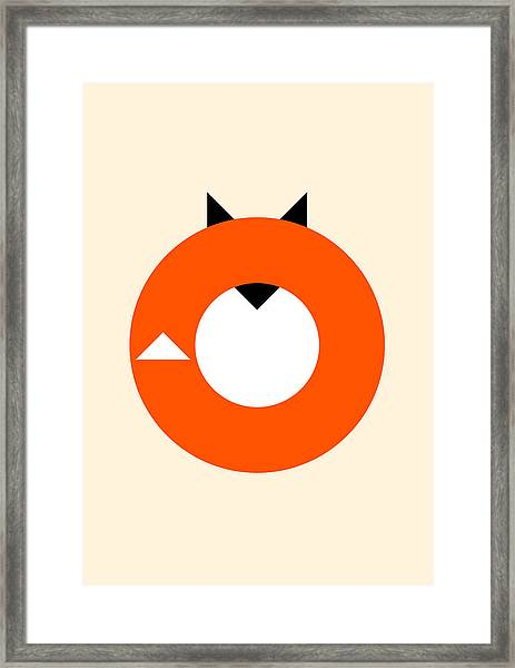 A Most Minimalist Fox Framed Print
