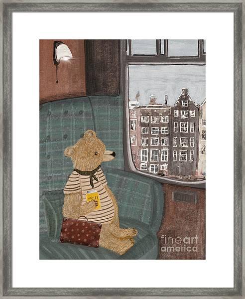 A New Adventure For Bear  Framed Print